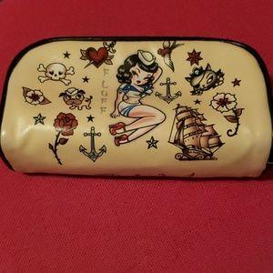 Sailor Girl Pinup Fluff Cosmetic Case makeup Bag